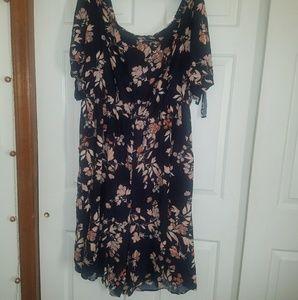 Xhilaration Dresses - Plus size Navy Floral jumpsuit